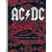Caderno Tilibra AC/DC 10 Matérias 200 Folhas Rock N Roll Train