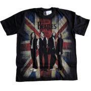 Camiseta Premium The Beatles Bandeira Inglaterra