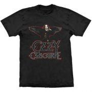 Camiseta Ozzy Osbourne Raven Wings Black Sabbath