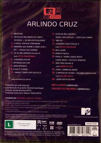 Dvd Arlindo Cruz Mtv Ao Vivo