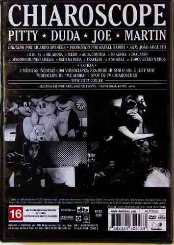 Dvd Pitty Chiaroscope