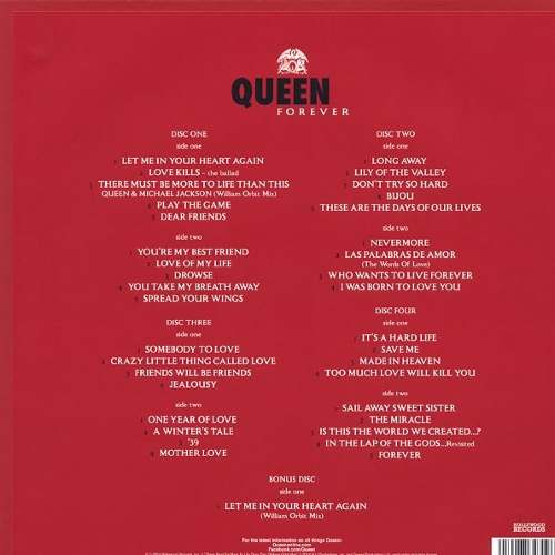 Lp Box Set Queen Forever (4 Discos)