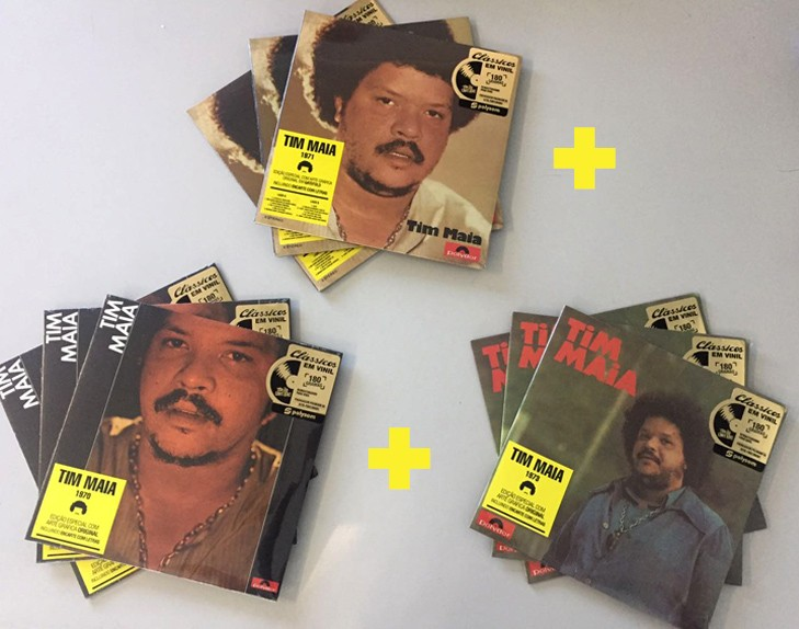 KIT 3 Lps Tim Maia 1970, 1971 e 1973