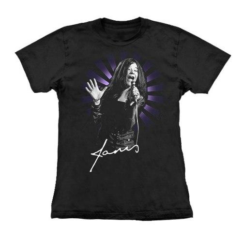 Camiseta Baby Look Feminina Janis Joplin