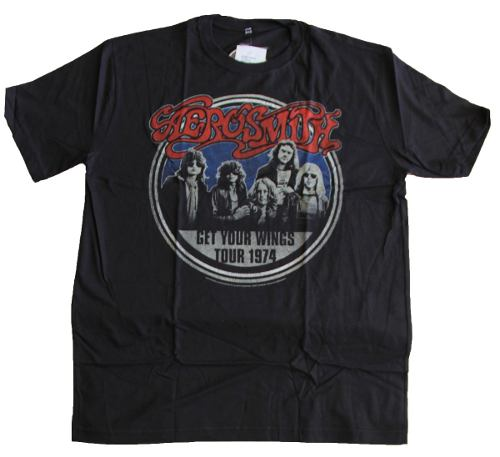 Camiseta Aerosmith Tour 1974