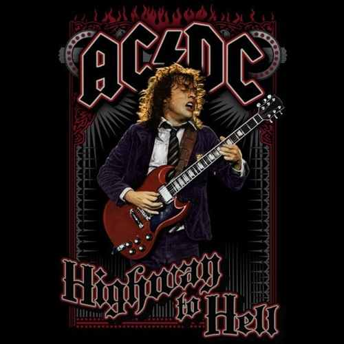 Camiseta AC/DC Highway To Hell Poster