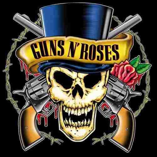 Camiseta Guns N Roses Skull Top Hat