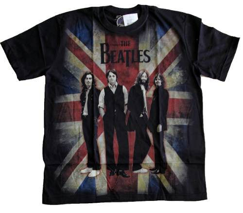 Camiseta Premium The Beatles Bandeira Inglaterra