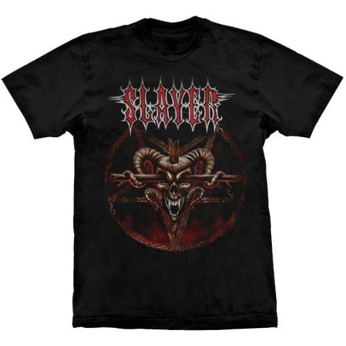 Camiseta Slayer Pentagram Skull