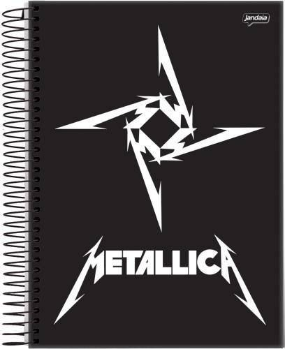 Caderno Jandaia Metallica 10 Matérias 200 Folhas