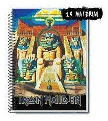 Caderno Credeal Iron Maiden 10 Matérias 200 Folhas