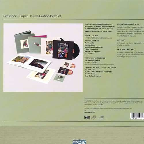 Lp Vinil Box Set Led Zeppelin Presence Super Deluxe