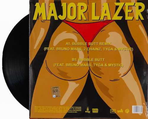 Lp Vinil Major Lazer Bubble Butt Remix