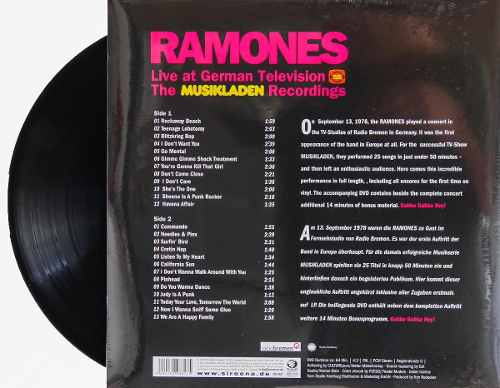 Lp Ramones Live At German Television