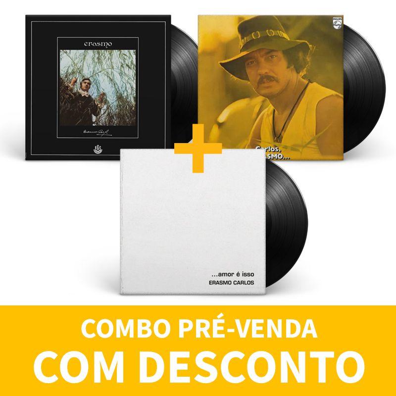 Kit Lp Vinil Erasmo Carlos Amar É Isso + Carlos Erasmo + Erasmo Carlos 1968