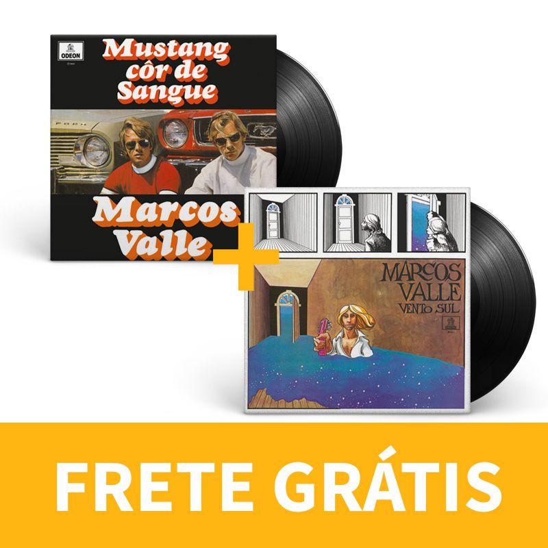KIT Lp Vinil Marcos Valle Mustang Cor de Sangue + Vento Sul (FRETE GRÁTIS)