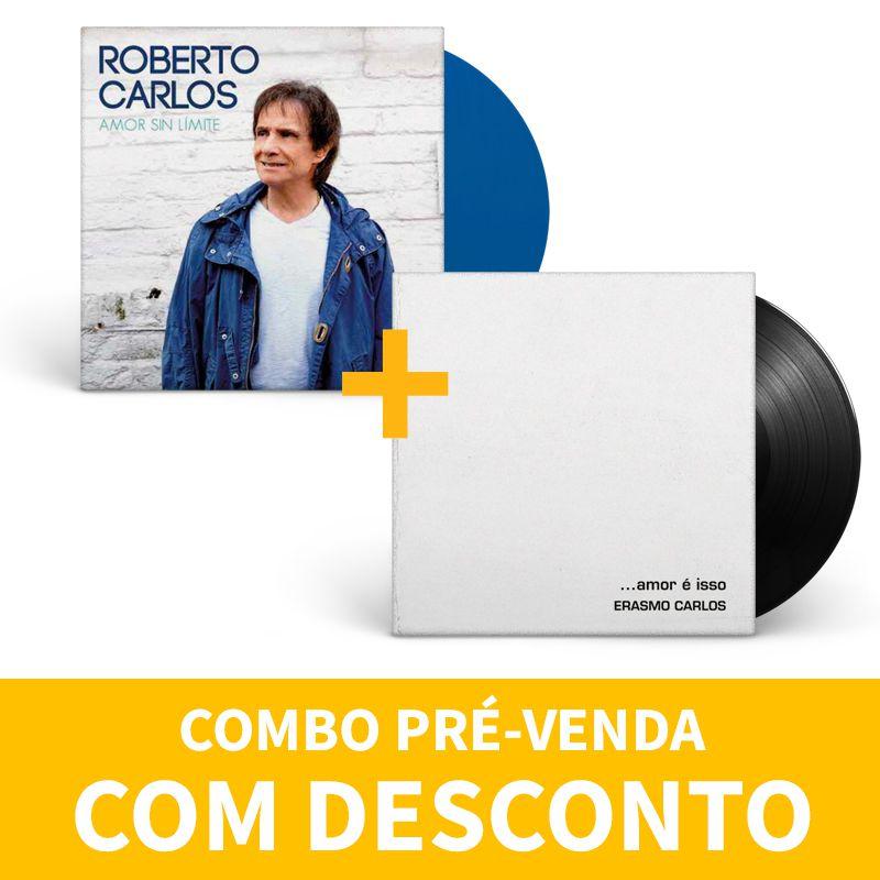 Kit Lp Vinil Roberto Carlos + Erasmo Carlos Amar é Isso