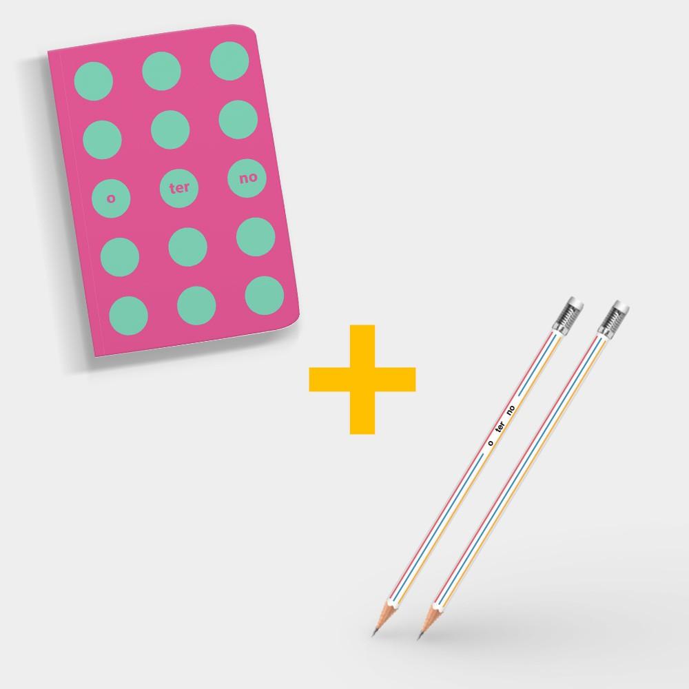 Combo O Terno <atrás/além> Pôster + Caderno + Lápis
