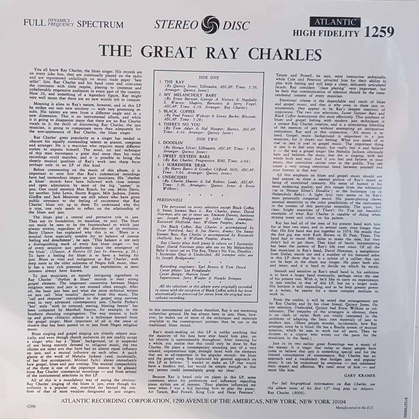 Lp Vinil Ray Charles The Great Ray Charles