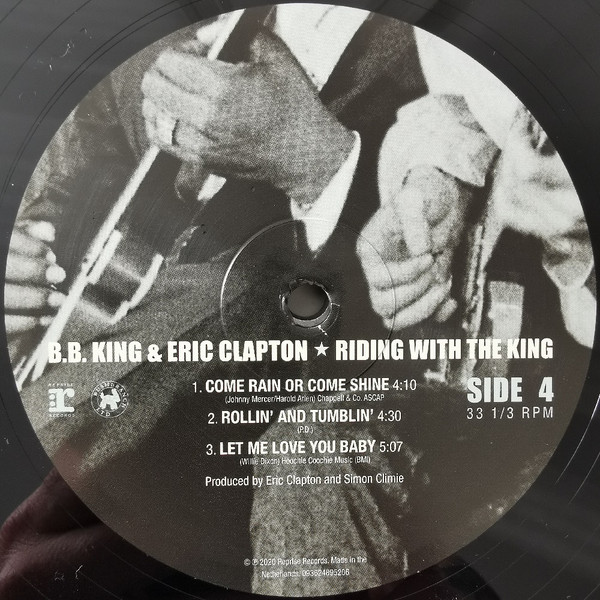 Lp Vinil BB King & Eric Clapton Riding With The King