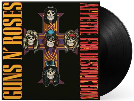 Lp Vinil Guns N' Roses Appetite For Destruction CAPA COM PEQUENO AMASSADO