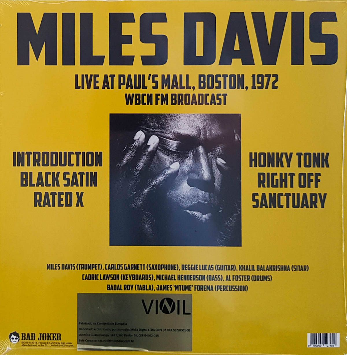 Lp Vinil Miles Davis Paul's Mall Boston 1972 Fm Broadcast