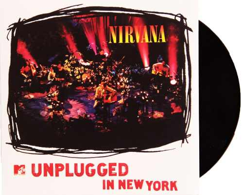Lp Vinil Nirvana Unplugged In New York  CAPA COM LEVE AMASSADO