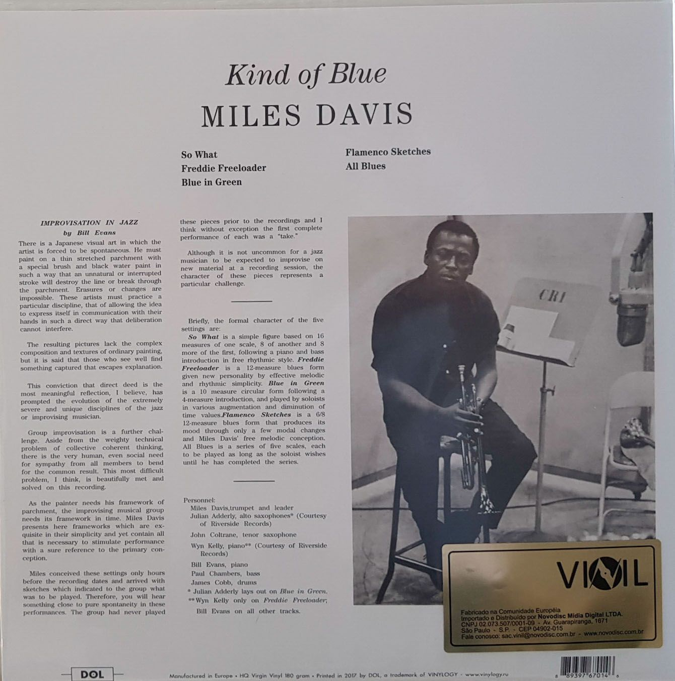 Lp Vinil Picture Disc Miles Davis Kind Of Blue