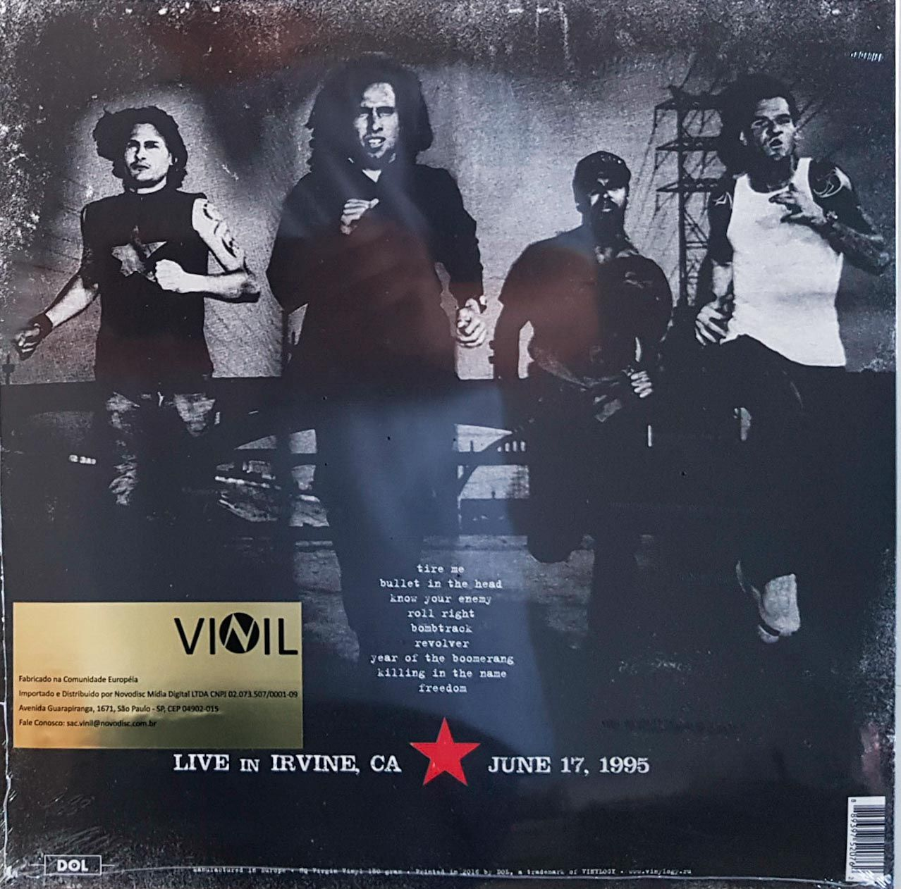 Lp Vinil Rage Against The Machine Live In Irvine 1995
