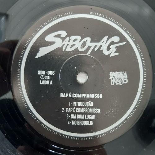 Lp Vinil Sabotage Rap É Compromisso - Disco 1 Empenado