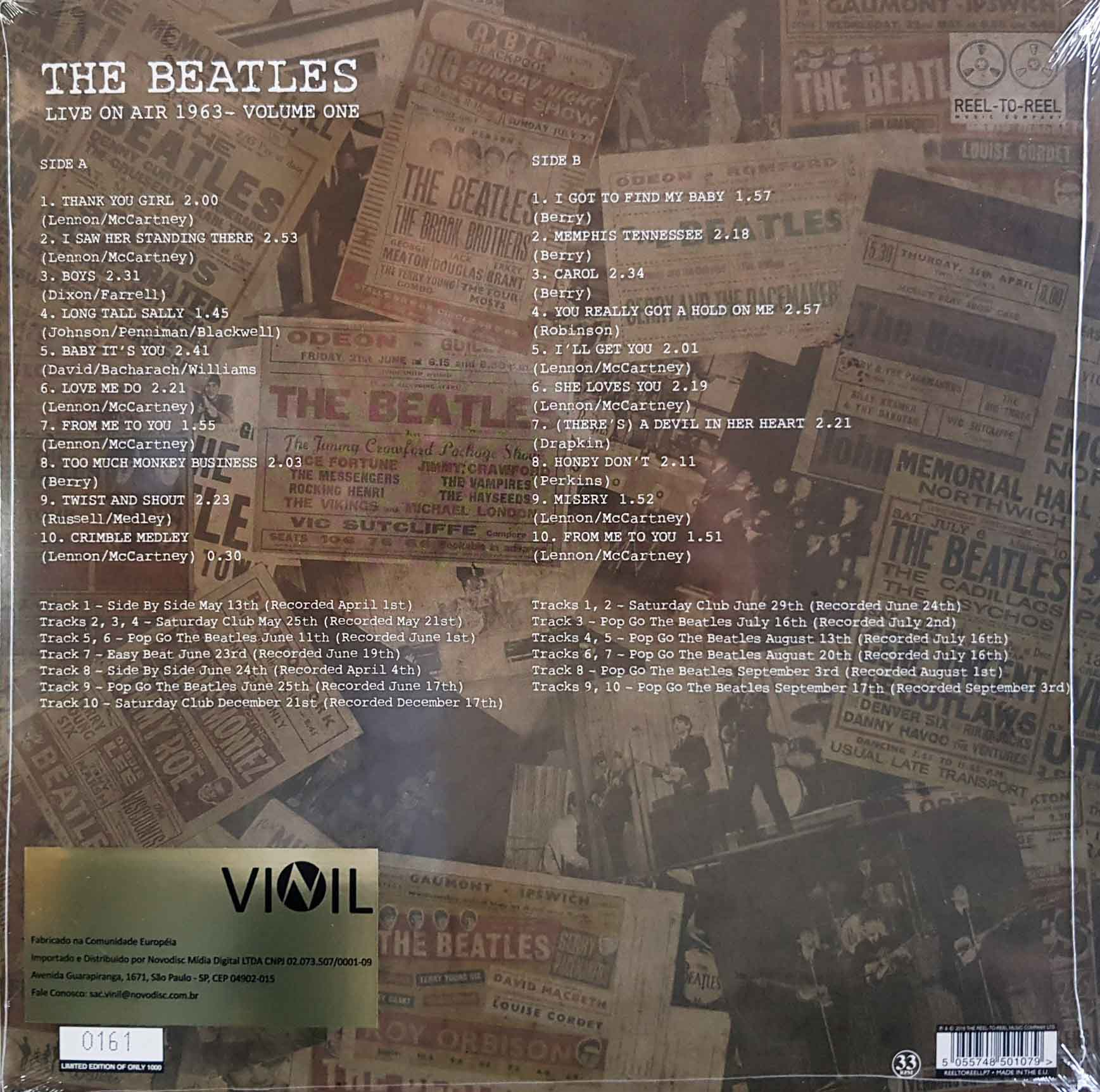 Lp Vinil The Beatles Live On Air 1963 Vol. 1