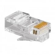 Conector RJ-45 UTP Cat6 8P8C Emb c/ 100 UN
