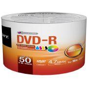 DVD-R Sony Printable 4.7GB 120min 16X Pack c/ 50 50DMR47FB