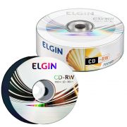 CD-RW Elgin 700MB/80min 12x (Cake c/ 25)