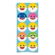 Adesivo Redondo - Festa Baby Shark - 30 unidades - Cromus
