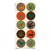 Adesivo Redondo Festa Dinossauro - 30 unidades - Cromus