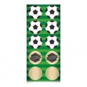 Adesivo Redondo - Festa Futebol - 30 unidades - Cromus