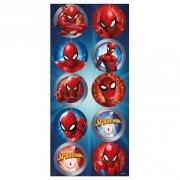 Adesivo Redondo Festa Homem Aranha - 30 unidades - Regina