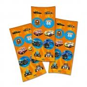 Adesivo Redondo Festa Hot Wheels - 30 unidades - Festcolor