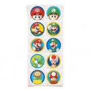 Adesivo Redondo - Festa Super Mario - 30 unidades - Cromus