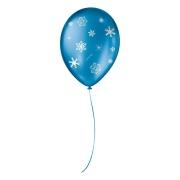 """Balão de Festa Decorado Floco de Neve - Cintilante - 9"""" 23cm - 25 Unidades"""
