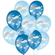 """Balão de Festa Decorado Chuva de Amor - Azul 9"""" 23cm - 25 Unidades"""