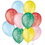 """Balão de Festa Decorado Estrela - Sortido 9"""" 23cm - 25 Unidades"""