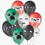 Balão de Festa Decorado Jogo Pixel - Sortido 9