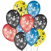 """Balão de Festa Decorado Orelha de Rato Mickey - Sortido 9"""" 23cm - 25 Unidades"""
