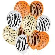 "Balão de Festa Decorado Safari - Sortido 9"" 23cm - 25 Unidades"