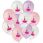 """Balão de Festa Decorado Unicórnio Charm - Sortido 9"""" 23cm - 25 Unidades"""