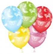 Balão de Festa Estampado Borboletas Sortido - 10