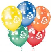 """Balão de Festa Estampado Circo Sortido - 10"""" 25cm - Pic Pic"""