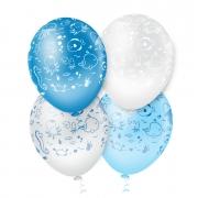 """Balão de Festa Estampado Fundo do Mar Sortido - 10"""" 25cm - Pic Pic"""